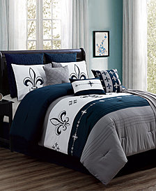 CLOSEOUT! Ilevea 10-Pc. Comforter Sets