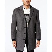 Deals on Calvin Klein Mens Minneapolis Wool-Blend Slim-Fit Overcoat
