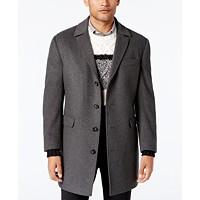 Macys deals on Calvin Klein Mens Minneapolis Wool-Blend Slim-Fit Overcoat