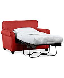 "Kaleigh 55"" Fabric Single Sleeper Chair Bed - Custom Colors"