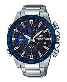 Men's Solar Analog-Digital Stainless Steel Bracelet Watch 54mm