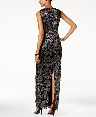 Adrianna Papell Two Tone Lace Gown Dresses Women Macy S