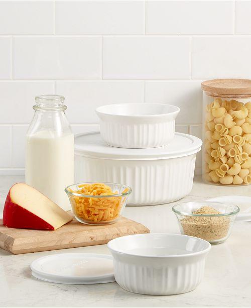 Corningware French White 6-Pc. Bakeware Set, Created for Macy's
