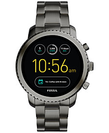 Fossil Q Men's Explorist Gen 3 Black Stainless Steel Bracelet Touchscreen Smart Watch 46mm