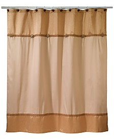 brown and orange shower curtain. Avanti Braided Medallion Colorblocked Shower Curtain Curtains  Macy s