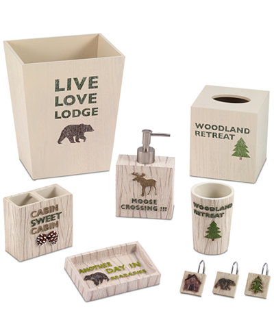 Avanti Cabin Words Bath Accessories Collection