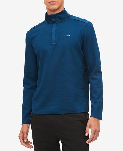 Calvin Klein Men's Jacquard Quarter-Zip Sweatshirt