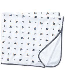 Ralph Lauren Baby Boys Reversible Bear Printed Blanket