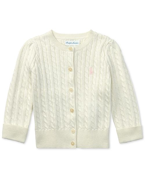 cozy fresh top-rated fashion shop for luxury Ralph Lauren Baby Girls Cable Cardigan