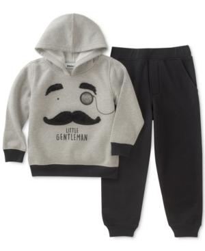 Kids Headquarters Mustache Hoodie  Joggers Set Toddler Boys (2T5T)