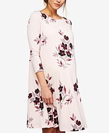 Maternity Floral-Print A-Line Dress