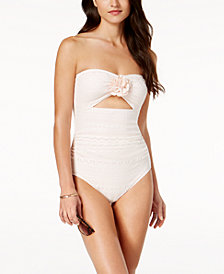kate spade new york Point Loma Lace Cutout One-Piece Swimsuit