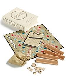 Linen Book Scrabble Game Vintage Edition