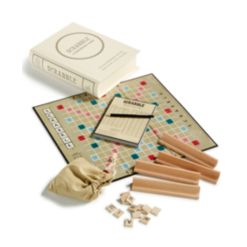 Winning Solutions Linen Book Scrabble Game Vintage Edition