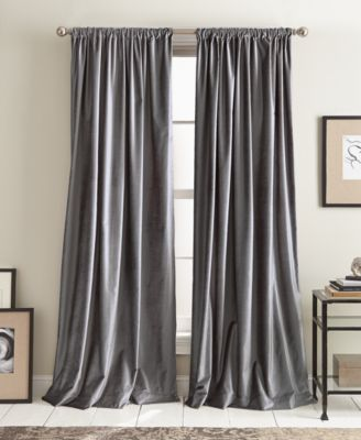 "Modern Textured Velvet 50"" x 108"" Pole Top Pair of Window Panels"