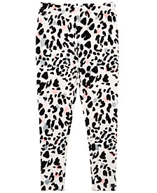 Epic Threads Flocked Leopard-Print Leggings, Big Girls, Created for Macy's