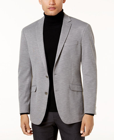 Kenneth Cole Reaction Men's Slim-Fit Light Gray Knit Soft-Tailored ...