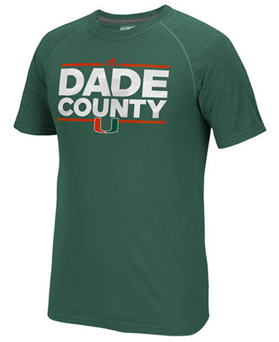 adidas Men's Miami Hurricanes Dassler City Nickname T-Shirt