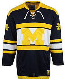 Colosseum Men's Michigan Wolverines Open Net II Hockey Jersey