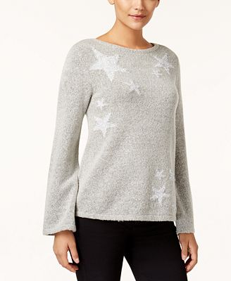 Style & Co Tinsel Star Sweater, Created for Macy's