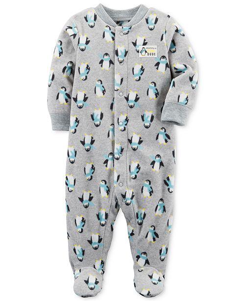 5c73bef41 Carter s 1-Pc. Fleece Penguin Coverall