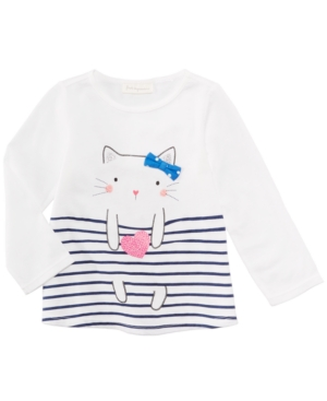 First Impressions Sweet Chic Cat Cotton TShirt Baby Girls (024 months) Created for Macys