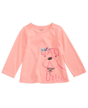 First Impressions Sweet Chic Puppy Cotton TShirt Baby Girls (024 months) Created for Macys