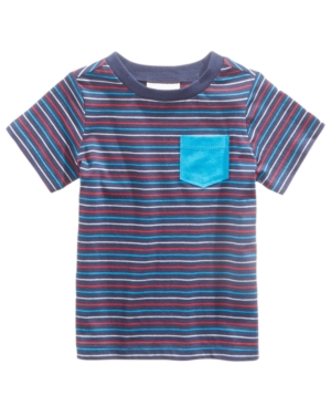 First Impressions Striped Pocket TShirt Baby Boys (024 months) Created for Macys