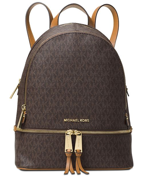 21ce172dfe9a Michael Kors Signature Rhea Zip Medium Backpack   Reviews - Handbags ...