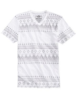 American Rag Men's Fair Isle Stripe T-Shirt, Created for Macy's ...