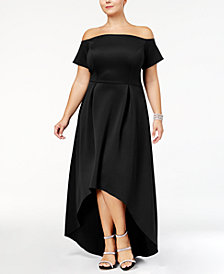 Monif C Trendy Plus Size High-Low Dress