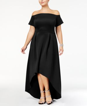 Monif C Trendy Plus Size High-Low Dress 5169532
