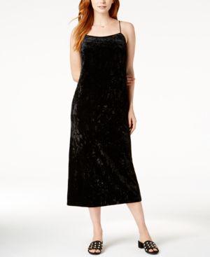 KENSIE CRUSHED-VELVET MAXI DRESS