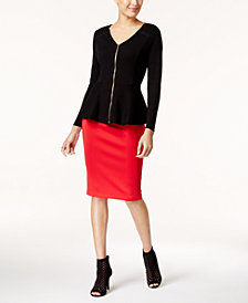 Thalia Sodi Peplum Sweater & Pencil Skirt, Created for Macy's