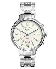 Women's Tech Virginia Stainless Steel Bracelet Hybrid Smart Watch 36mm