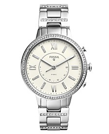 Fossil Q Women's Virginia Stainless Steel Bracelet Hybrid Smart Watch 36mm