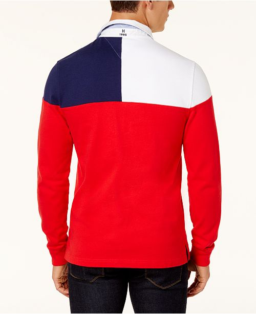 fbda7fdd Tommy Hilfiger Men's Harbor Rugby Polo, Created for Macy's & Reviews ...