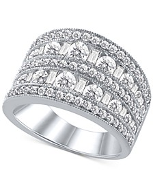 Diamond Multi-Row Statement Ring (2 ct. t.w.) in 14k White Gold