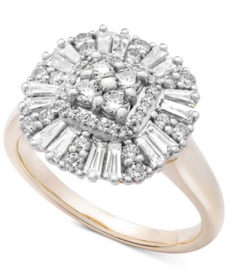Diamond Cluster Ring (3/4 ct. t.w.) in 14k Gold, Created for Macy's