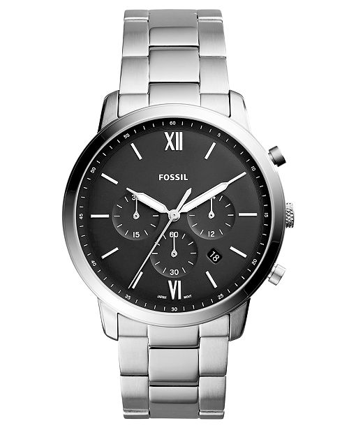 2c326f74f Fossil Men's Neutra Chronograph Stainless Steel Bracelet Watch 44mm ...