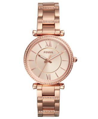 Women's Carlie Rose Gold-Tone Stainless Steel Bracelet Watch 35mm