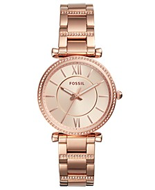 Women's Carlie Rose Gold-Tone Stainless Steel Bracelet Watch 35mm