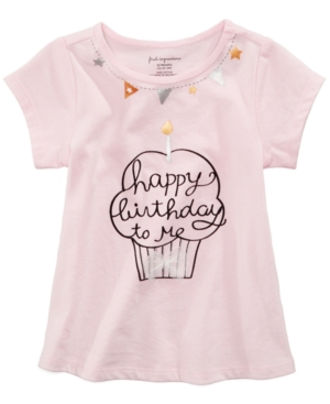 First Impressions BirthdayPrint Cotton TShirt Baby Girls (024 months) Created for Macys