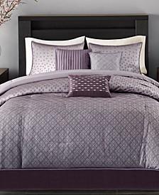 Biloxi 7-Pc. Geometric Jacquard Comforter Set Collection
