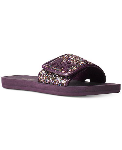 bb7a84320771 Michael Kors MK Slide Flat Sandals   Reviews - Sandals   Flip Flops ...
