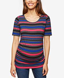 Motherhood Maternity Ruched Jersey T Shirt