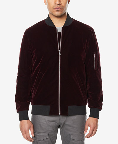 Sean John Men's Velvet Bomber Jacket, Created for Macy's - Coats ...
