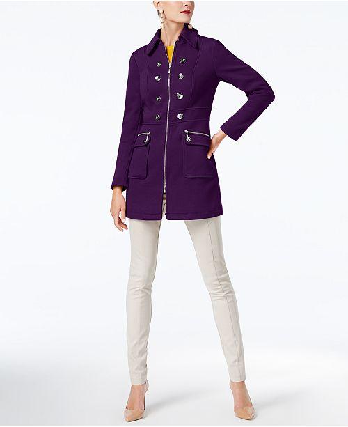 62252d743f1a ... INC International Concepts I.N.C. Button-Trim Coat