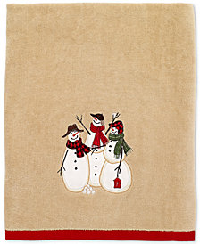 Avanti Snowman Gathering Bath Towel