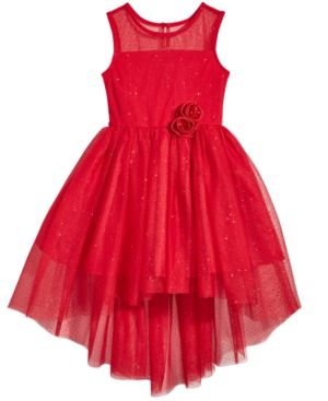 Pink & Violet Glitter-Mesh Party Dress, Little Girls (4-6X) 4851898